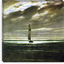 Seascare at Moonlight By Caspar David Friedrich Canvas Print #15042