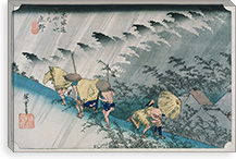 Shono From the Fifty-Three Stations on Tokaido Highway By Utagawa Hiroshige l Canvas Print #13604