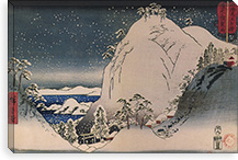 Shrines in Snowy Mountains By Utagawa Hiroshige l Canvas Print #13657