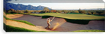 Side profile of a man playing golf at a golf course, Tucson, Arizona, USA #PIM3385