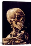 Skull With Cigarette 1885 by Vincent van Gogh Canvas Print #1013
