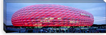 Soccer Stadium Lit Up At Dusk, Allianz Arena, Munich, Germany #PIM5069