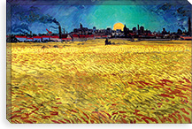 Sommerabend By Vincent van Gogh Canvas Print #14297