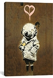 Space Girl and Bird By Banksy Canvas Print #2030