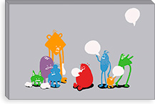 Speech Bubble By Budi Satria Kwan Canvas Print #13831