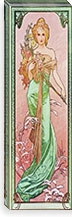 Spring (Seasons), 1900 By Alphonse Mucha Canvas Print #15278