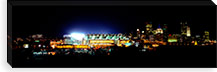 Stadium lit up at night in a city, Heinz Field, Three Rivers Stadium, Pittsburgh, Pennsylvania, USA #PIM6059