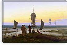 Stages of Life By Caspar David Friedrich Canvas Print #15252