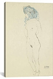 Standing Female Nude, Arms Crossed in the Back (Stehender Frauenakt, Mit Im Rucken Verschrankten Armen) 1906-1907 By Gustav Klimt Canvas Print #1114