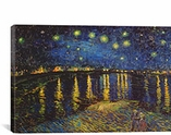 Starry Night Over The Rhone by Vincent Van Gogh Canvas Print #1322