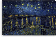 Starry Night over the Rhone By Vincent van Gogh Canvas Print #14394