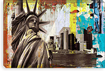 Statue of Liberty By Luz Graphics Canvas Print #LUZ13