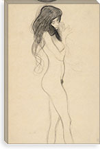 Stehender Frauenakt nach rechts (Standing Female Nude from the Front) By Gustav Klimt Canvas Print #14046