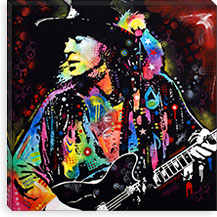 Stevie Ray Vaughan By Dean Russo Canvas Print #13529