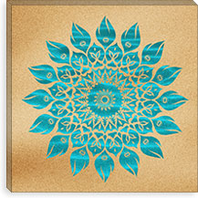 Summer Mandala By Maximilian San Canvas Print #MXS26
