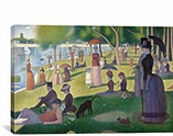 Sunday Afternoon on the Island of La Grande Jatte By Georges Seurat Canvas Print #301