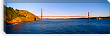 Suspension bridge across the sea, Golden Gate Bridge, San Francisco, California, USA #PIM2125