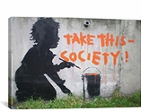 Take This Society By Banksy Canvas Print #2153