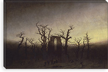 The Abbey in the Oakwood By Caspar David Friedrich Canvas Print #15028