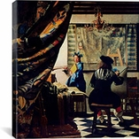 The Art of Painting by Johannes Vermeer Canvas Print #1448