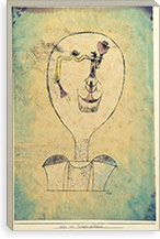 The Beginnings of a Smile, 1921 By Paul Klee Canvas Print #15241