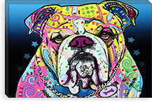 The Bulldog By Dean Russo Canvas Print #4210