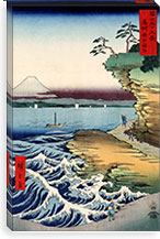 The Coast at Hota in Awa Province, 1858 By Utagawa Hiroshige l Canvas Print #13635