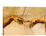 The Creation of Adam, C.1510 by Michelangelo Canvas Print #1338