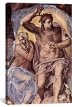 The Creation of the Sun and the Moon 1508-1512 by Michelangelo Canvas Print #1086