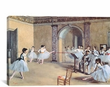 The Dance Foyer At The Opera By Edgar Degas Canvas Print #1330