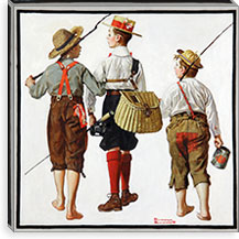 The Fishing Trip By Norman Rockwell Canvas Print #13437