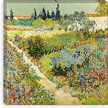 The Garden at Arles By Vincent van Gogh Canvas Print #14340