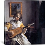 The Guitar Player by Johannes Vermeer Canvas Print #1452