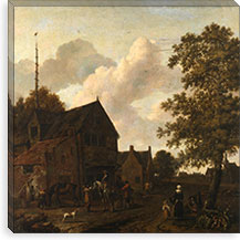The Halting Place By Emanuel Murant Canvas Print #14138