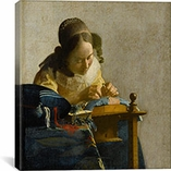 The Lacemaker by Johannes Vermeer Canvas Print #1447