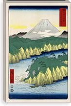 The Lake in Hakone, 1858 By Utagawa Hiroshige l Canvas Print #13660