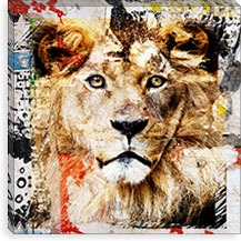 Lion By Luz Graphics Canvas Print #LUZ44