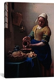 The Milkmaid by Johannes Vermeer Canvas Print #1445