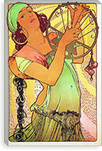 The Modern Stamped Salome By Alphonse Mucha Canvas Print #15279
