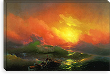 The Ninth Wave By Ivan Aivazovsky Canvas Print #15089