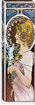 The Pen, 1899 By Alphonse Mucha Canvas Print #15202