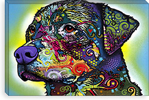 The Rottweiler By Dean Russo Canvas Print #4229