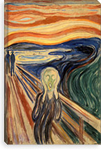 The Scream, 1893 By Edvard Munch Canvas Print #15229