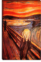 The Scream By Edvard Munch Canvas Giclee Art Print #303