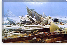 The Sea of Ice By Caspar David Friedrich Canvas Print #15251