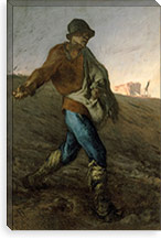 The Sower By Jean Francois Millet Canvas Print #15102
