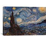 The Starry Night by Van Gogh Canvas Giclee Art Print #300
