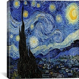The Starry Night By Vincent van Gogh Canvas Print #1523