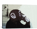 The Thinker Monkey By Banksy Canvas Print #2012