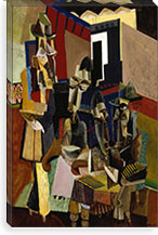 The Visit By Max Weber Canvas Print #14085